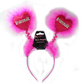 Hen Night Pink Bridesmaid Fluffy Head Bopper Hen Party Accessory