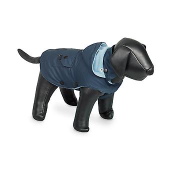 Nobby Mellow Dog Coat Blue With Hood 36cm