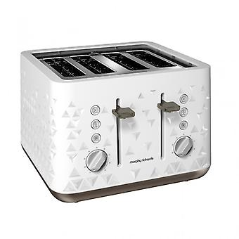 MORPHY RICHARDS Toaster Prism White 4 Discs