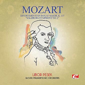 Mozart - Divertimento B-dur głównych K. 137 Salzburg Sym 2 USA importu