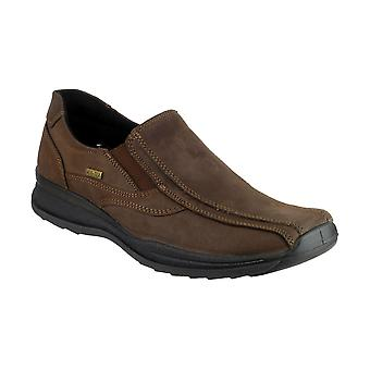 Cotswold Naunton Mens Twin Gusset Shoes Textile Leather PU Sole Slip On Boots
