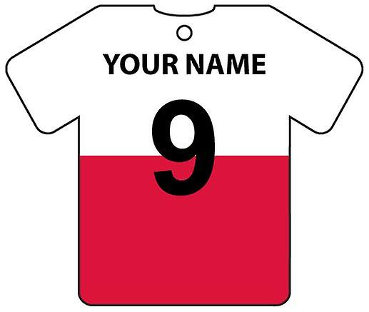 Personalised Poland Flag Jersey Car Air Freshener