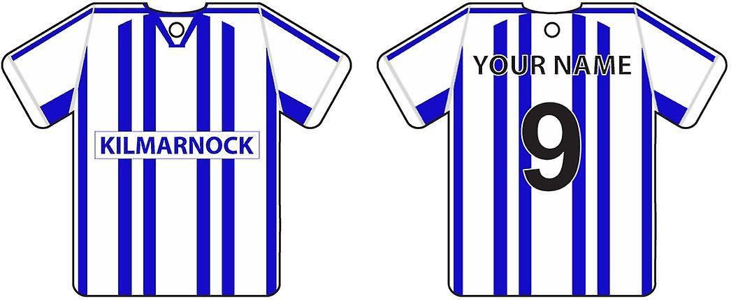 Personalised Kilmarnock Football Shirt Car Air Freshener