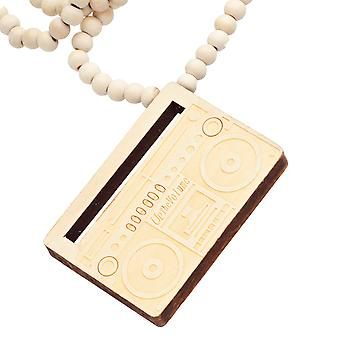 Wood Style Bead Kette - UP THE VOLUME beige
