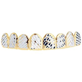 Gold Grillz - One size fits all - Full Size Diamond Cut IV