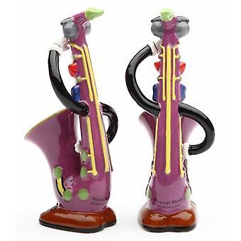 Saxofon Sax musikinstrument Salt og peber Shakers