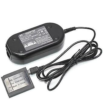 Dot.Foto replacement Panasonic DMW-AC5 AC Mains Power Adapter and DMW-DCC10 DC Coupler - supplied with UK 3-pin mains cable [See Description for Compatibility]