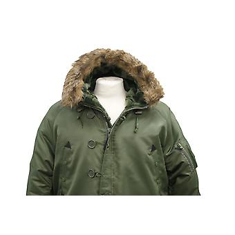 Hær militær N3B bombefly flugt jakke, brun pels