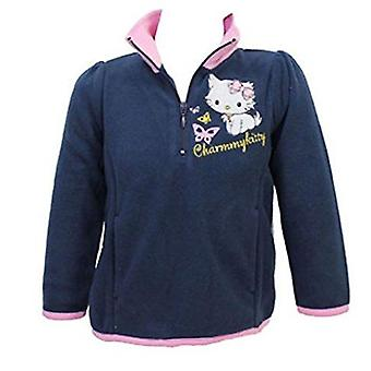 Hello Kitty Girls Half Zip Fleece Jumper