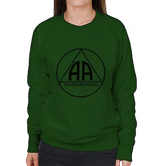 Hengelaars anonieme AA Logo vrouwen Sweatshirt