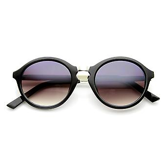 Round Funky Fashion Retro Sunglass w/ Metal Arms