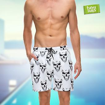 Skull skull of shorts evil grin men's Shorts to match the suit