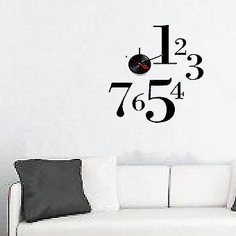 Moderne hjem selv selvklebende DIY 3D Wall Clock - en-to-Seven