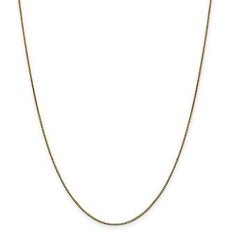14k Yellow Gold Polished Lobster Claw Closure .90mm Box Chain Necklace - Length: 14 to 30