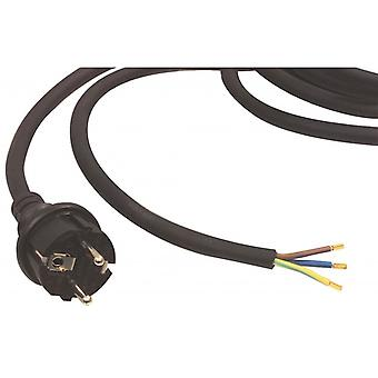 Fixapart mains cable H07RN-F 3 g 1.5 3.00 m Schuko/Type F (CEE 7/7) Black