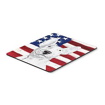 Carolines Treasures  SC9520MP Bull Terrier USA American Flag Mouse Pad, Hot Pad