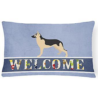German Shepherd Welcome Canvas Fabric Decorative Pillow