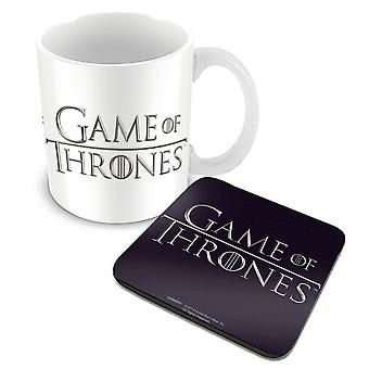 Game Of Thrones Mug and Coaster Classic Logo new official boxed Gift set