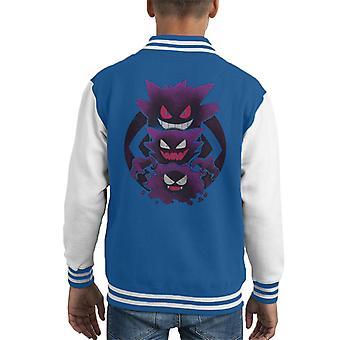 Pokemon Ghost Types Kid's Varsity Jacket