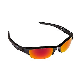 2a68eb35a5ed7 Best SEEK Polarized Replacement Lenses for Oakley FLAK JACKET Fire Red  Mirror
