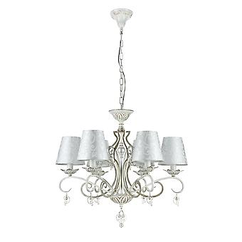 Maytoni Lighting Monile Elegant Collection Chandelier, White Gold