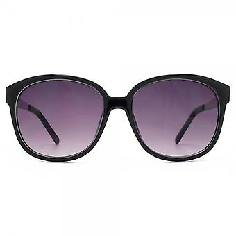 M:UK Carnaby Chic Round Sunglasses In Crystal Black