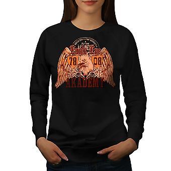 Eagle Eye Academy Women BlackSweatshirt | Wellcoda