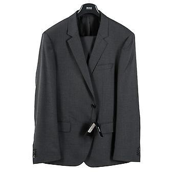 Хьюго Босс мужской костюм темно серый огромные гений