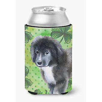 Newfoundland Puppy St Patrick's Can or Bottle Hugger