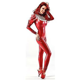 Westward Bound Coco-Chic Latex Rubber Catsuit. Pearl Sheen Red.