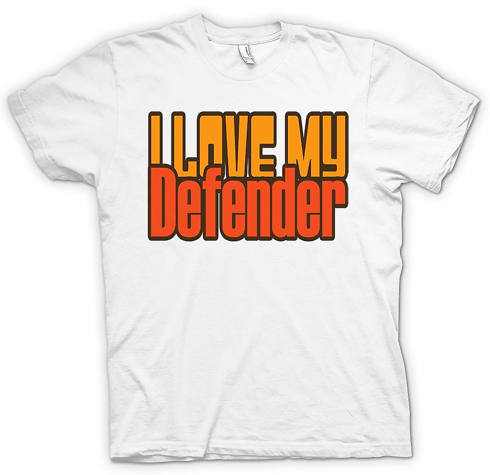 Mens T-shirt - I Love My Defender - Car Enthusiast
