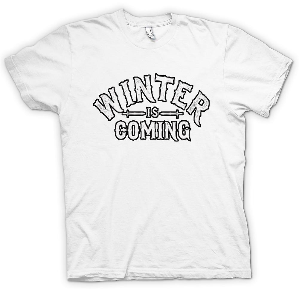 Femmes T-shirt - Winter Is Coming Lettrage