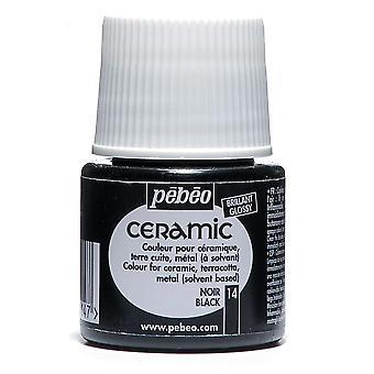 Pebeo Ceramic Paint 45ml (Black)