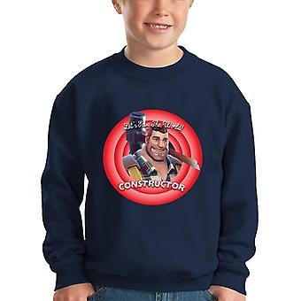 Fortnite Constructor Lets Save The World Kid's Sweatshirt