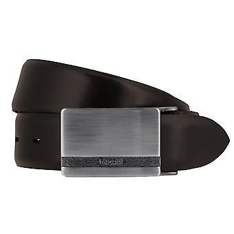 Correa de cuero cinturones de Bugatti correa cuero hombre marrón marrón oscuro puede ser acortado 2821