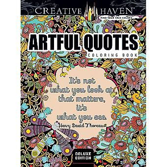 Dover Publications-Creative Haven: Artful Quotes Deluxe