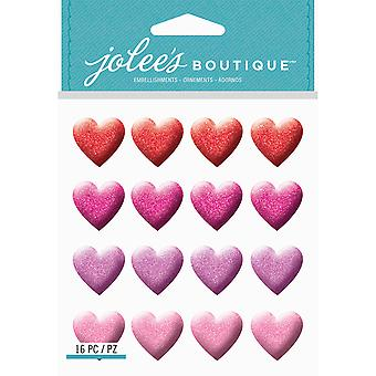 Jolee's Boutique Dimensional Stickers-Glitter Heart