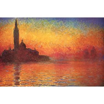 Affiche crépuscule Monet impression crépuscule dans Venise affiche Poster Print