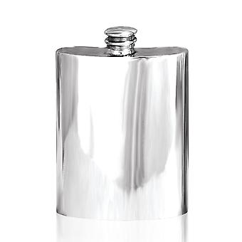 Plain Polished Pewter Hip Flask - 6oz