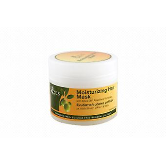 Moisturising hair mask with olive oil, organic aloe vera and honey.