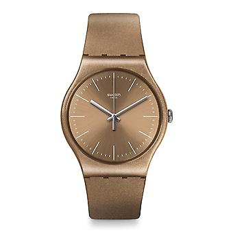 Swatch Suom111 Powderbayang Bronze Silicone Watch