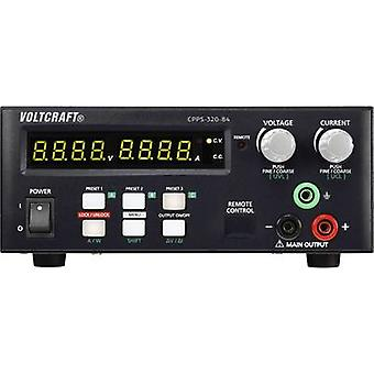 VOLTCRAFT CPPS-320-84 Bench PSU (adjustable voltage) 0.02 - 84 Vdc 0.01 - 10 A 320 W USB remote controlled, programmable, Autoranger No. of outputs 1 x