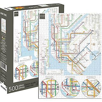 New York Subway 500 Piece Jigsaw Puzzle 480Mm X 350Mm (Nm 62130)