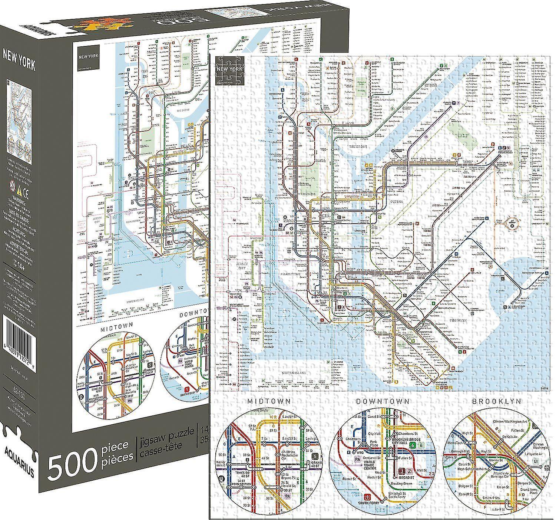 Nueva York metro 500 pieza rompecabezas 480 Mm X 350 Mm (Nm 62130)