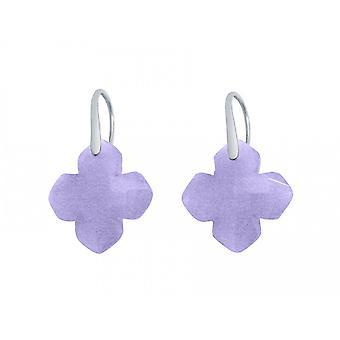 Gemshine Damen Ohrringe 925 Silber Chalcedon Lavendel Lila GEM 2,5 cm