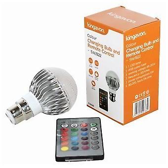 Kingavon 5W B22 Colour Changing Bulb and Remote Control Lighting