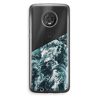 Motorola Moto G6 Plus Transparent Case (Soft) - Ocean Wave