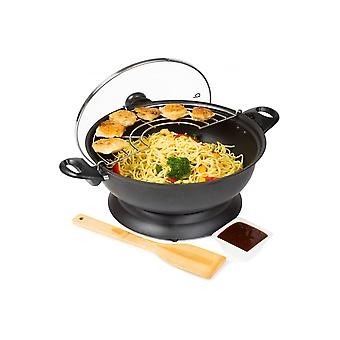Andrew James 28cm Electric Wok With Adjustable Temperature 1400W