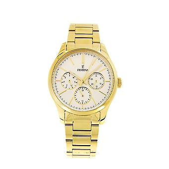Festina F16815/1 Ladies Gold Plated Multi-Function Watch