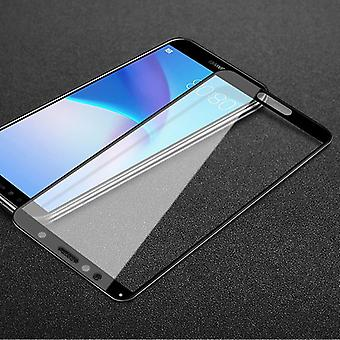 For Huawei Y5 2018 3D premium 0.3 mm H9 hard glass black slide protection cover new